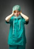 Oído del doctor ningún mal fotografía de archivo libre de regalías