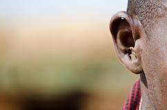 Oído del Masai Imagen de archivo libre de regalías