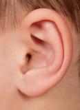 Oído del niño Imagenes de archivo