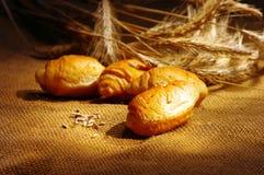 oídos cruissant y del trigo Imagen de archivo