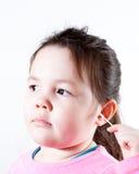 Oídos de la limpieza Foto de archivo