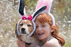 Oídos de los conejitos de pascua imagen de archivo libre de regalías
