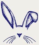 Oídos del conejito de pascua ilustración del vector