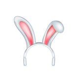Oídos del conejito de pascua aislados en blanco libre illustration