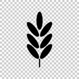 Oídos del trigo, cereal Oído de la avena Oídos de Rye Ejemplo del icono del vector stock de ilustración