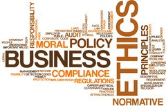 Облако слова деловой этики иллюстрация вектора