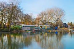 Общественный бассейн Tuindorpbad основанное аистом стоковое фото