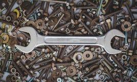 Оборудование инструмента ключа стоковая фотография rf