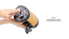 Оборудование студии внезапное в картине руки стоковая фотография rf