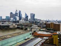 20-ое мая 2018, Англия Панорама Лондона от высоты смотровой площадки музея современного искусства стоковые изображения rf