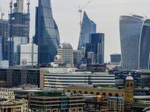 20-ое мая 2018, Англия Панорама Лондона от высоты смотровой площадки музея современного искусства стоковая фотография