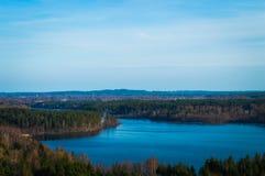 Озеро с высоты птичьего полета Stock Photo