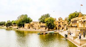 Озеро Jaisalmer Gadisar стоковое фото rf