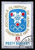 Олимпийские Игры Гренобль, Олимпийские Игры 1968 зимы - serie Гренобля, около 1967 стоковое фото rf
