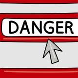 Опасность - концепция интернета Браузер со стрелкой смогите конструктор каждый вектор оригиналов предмета evgeniy графиков незави иллюстрация вектора