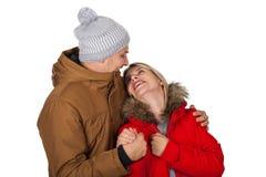 Одежда зимы пар нося стоковое изображение