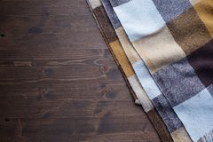 Одеяло в клетке стоковое фото rf