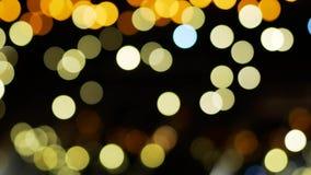 Освещение светов города Bokeh освещает предпосылку сток-видео