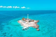 Осмотрите сверху остров Capitancillo стоковые изображения rf