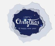 Lettering merry christmas and happy new year royalty free illustration