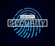 Smart security fingerprint digital background royalty free illustration