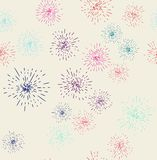 Fireworks display seamless background stock illustration