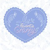 Postcard for grandmother. royalty free illustration