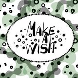 Make a wish stock illustration