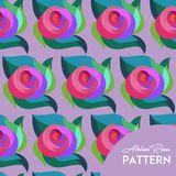 Abstract Rose Pattern royalty free illustration