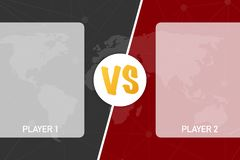 VS Versus black and red comic design. Battle banner match, vs letters competition confrontation. Vector illustration. VS Versus black and red comic design stock illustration