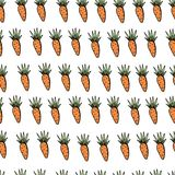 Seamless easter carrot pattern on white backdrop royalty free illustration