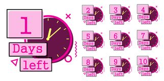 Days left badges stock illustration