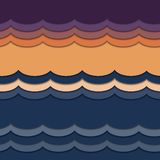 Waves from paper. royalty free illustration