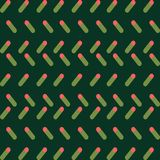 Simple green-coral pattern, simple shapes and nice collours royalty free illustration