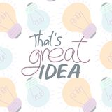 That`s great idea royalty free illustration