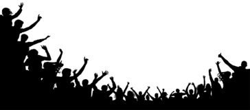 Cheers party, applause. Audience applause hand up. stock illustration