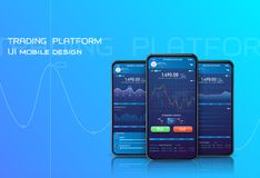 RGBCryptocurrencies trading, and exchange stock illustration
