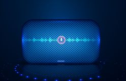 Smart speaker with voice control. Voice royalty free illustration