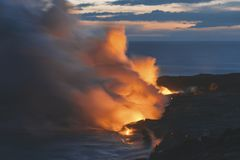 Остров США Гаваи большой, волшебное scenics пляжей, заходы солнца, вулканы, утесы, фотография изящного искусства стоковое изображение