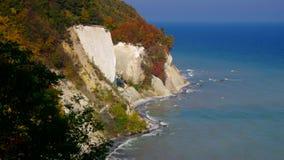 Остров Ruegen, скалы мела видеоматериал
