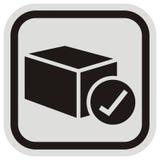Отправьте пересылку, значок вектора сети на серой и черной рамке стоковые изображения rf
