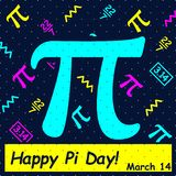 Отпразднуйте день Pi Счастливый день Pi - вектор иллюстрация штока