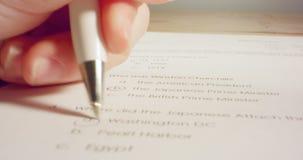 Отслеживать съемку макроса ответов ручки отмечать в тесте истории в школе акции видеоматериалы