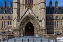 Оттава КАНАДА - 17-ое февраля 2019: Федеральное здание парламента Канады в Оттаве, Северной Америке стоковые изображения