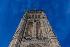 Оттава КАНАДА - 17-ое февраля 2019: Федеральное здание парламента Канады в Оттаве, Северной Америке стоковая фотография