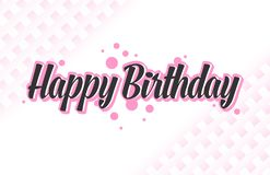 Оформление поздравительой открытки ко дню рождения с днем рождений простое иллюстрация штока