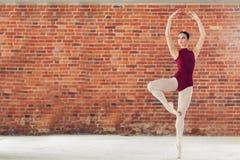 Очаровывая балерина выполняя ее танец стоковые фотографии rf