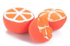 Очень вкусный апельсин handmade от глины пластилина аранжирует красив стоковые фотографии rf