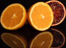 Оранжевый плодоовощи витамин Макрос сочно Красный стоковая фотография rf