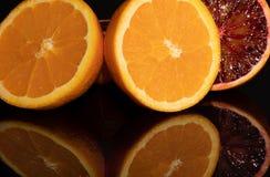 Оранжевый плодоовощи витамин сочно Макрос Красный стоковые фото